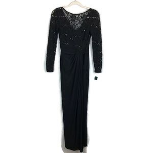 RALPH LAUREN prom / homecoming black gown size 2p